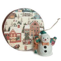 Christmas Scene Keepsake Box and Porcelain Snow... - $7.95