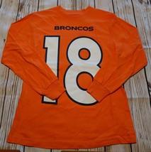 LZ NFL Team Apparel Boy's M 10/12 Denver Broncos Long Sleeve Tee Shirt N... - $12.19