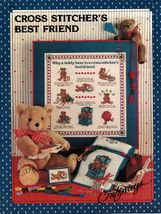 Cross Stitch Stitcher's Best Teddy Bear Friend Caddy Floss Sew Box Apron PATTERN - $9.99