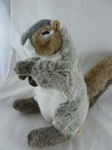 """Realistic Plush Full Body Gray Squirel with Acorn Hand Puppet 11"""" Folkmanis - $15.98"""