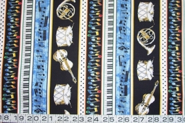 1/2 yd music/blues/jazz/drum/violin/horn quilt fabric -free shipping