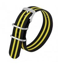 Genuine Luminox Men's Scott Cassell Black & Yellow 23mm Watch Band Strap - $51.95