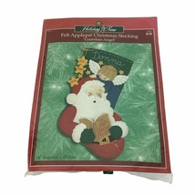 "Holiday Time Bucilla Guardian Angel Felt Applique Christmas Stocking 18""  - $23.36"