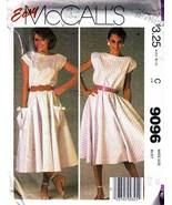 Vintage 1984 Misses' DRESS Pattern 9096-m Size 10 - $8.00