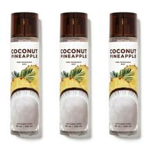 3 Pc Bath & Body Works Coconut Pineapple 8 oz Fine Fragrance Mist Gift S... - $29.91