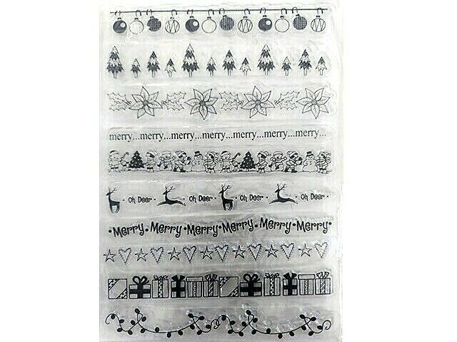 Holiday Clear Borders Stamp Set