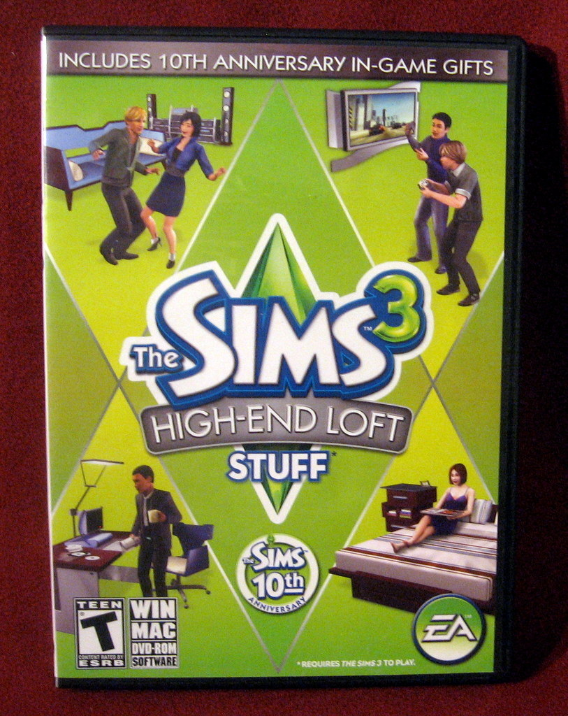 Sims 3 PC High-End Loft Stuff Code Manual FREE SHIP
