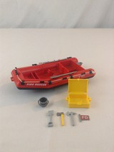 1993 Playmobil 5721 Fire Rescue Boat Raft With Accessories Toy (No Motor) - $12.19