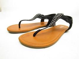 AZ Arizona Shoes Sandals SANDY Black Womens 11M drwzrxq7P