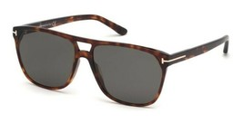 Tom Ford 679 54D SHELTON Havana / Gray Polarized Sunglasses FT679 54D 59mm - $195.02