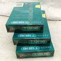 BRAND NEW Zenith HQ High Quality T-120 Blank VHS Video Tapes 6 Hour EP Mode X3 image 3