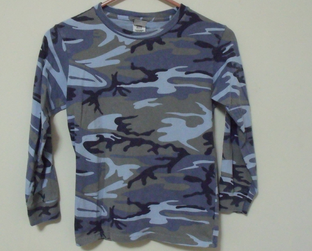 Primary image for Boys Code V Blue Camouflage Long Sleeve Shirt Size M