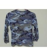 Boys Code V Blue Camouflage Long Sleeve Shirt Size M - $4.95