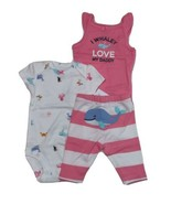 Carters 3 Piece Set for Girls Whaley Love my Daddy Newborn 3 6 9 or 12 Months - $15.00
