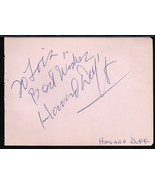 HOWARD DUFF AUTOGRAPH. Signed on album page. - $11.88