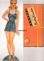 VINTAGE UNCUT 1942 BETTY GRABLE PAPER DOLLS~#1 REPRODUCTION~SCARCE~ORIGI... - $18.99