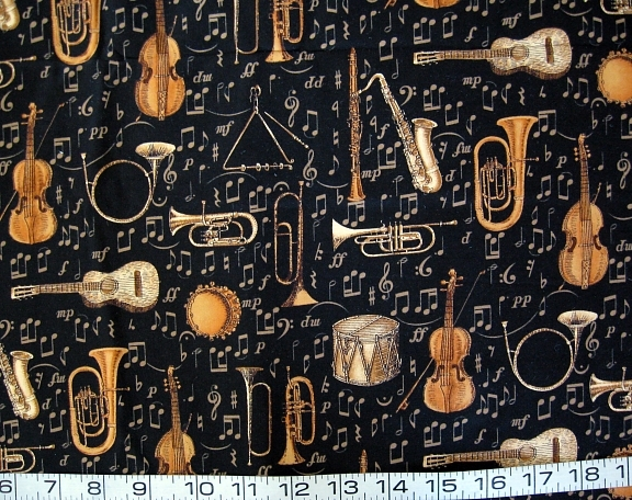 Music black gold instruments