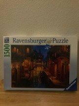 """NEW 1500 Piece Premium Ravensburger Jigsaw Puzzle  """"Waters of Venice"""" Dusk Canal - $28.98"""