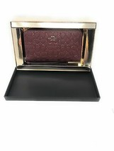 Coach Gift Boxed Glitter Signature Leather Phone Wallet in Wine - $103.95