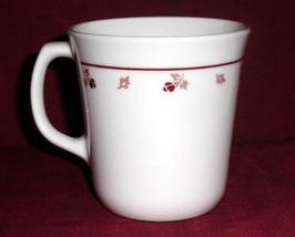 Corning Ware Corelle Burgundy Wine Flora Vintage Mug Cup  - $8.00