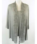 Dressbarn Size 18W 20W Layered-Look Beaded Knit Jacket Top - $21.99