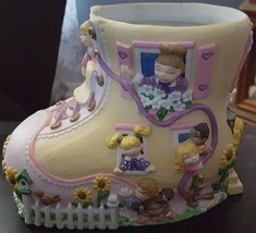 Vintage Ceramic Old Woman in a Shoe Children Planter One of a Kind Cute ... - $5.14