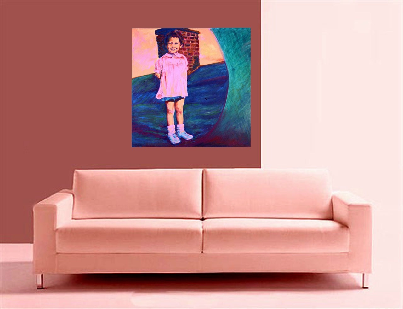 Baby Me ( Original Portrait of a New York Child,  Long Ag)