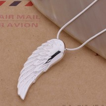An146 Hot 925 Sterling Silver Necklace 925 Silver Fashion Jewelry Pendant Wing / - $9.82