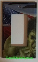 Hulk US Flag Air Force Light Switch Power Outlet Wall Cover Plate Home decor image 3