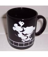 THE WALT DISNEY STUDIOS MICKEY MOUSE BLACK CERAMIC COFFEE MUG - $29.99