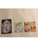 3 Art Print Illustration Zine Signed Women Artist by Nalago Floral Patte... - $14.50