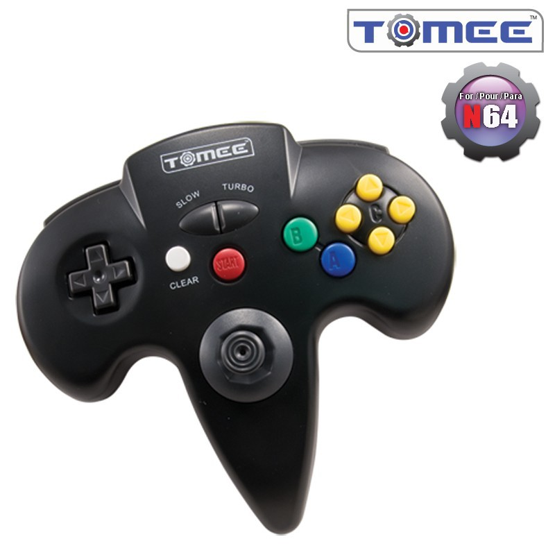 Nintendo 64 Tomee Controller (Black) New In The Box