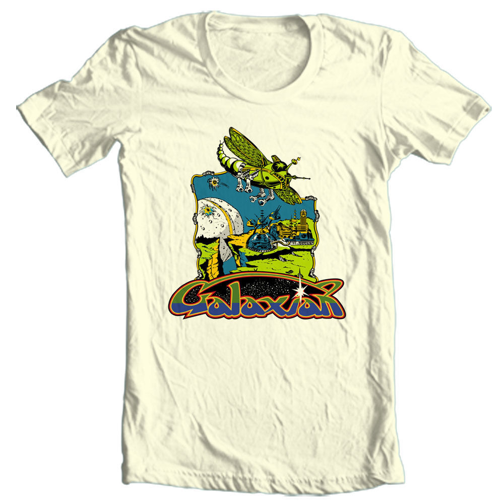 Galaxian T-shirt vintage retro 80s arcade video game tee heather blue tee
