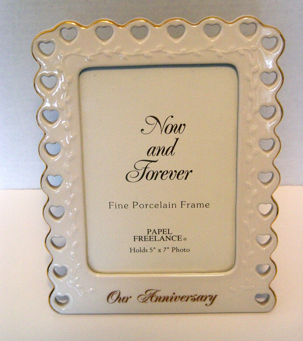 Our  Anniversary  Porcelain Frame by Papel (5x7)