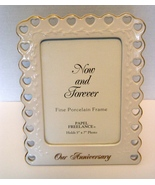 Our  Anniversary  Porcelain Frame by Papel (5x7)  - $4.99