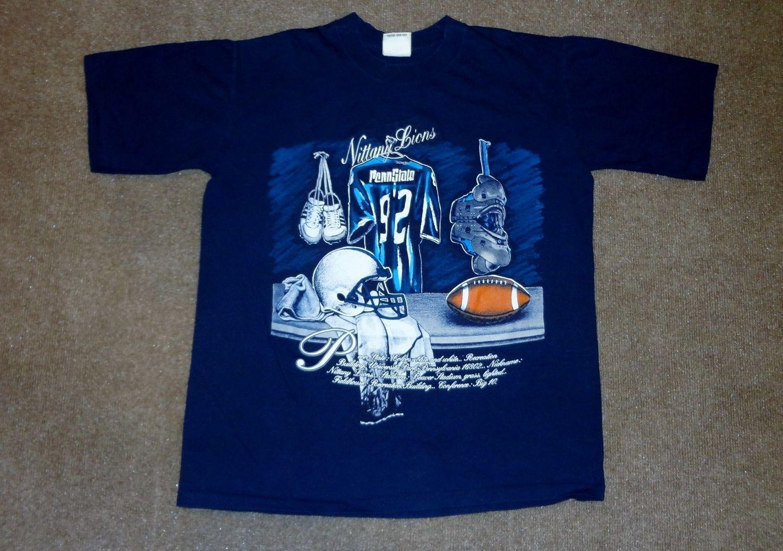 8a6d667d9 S l1600. S l1600. Previous. VTG Nutmeg Mills Penn State Nittany Lions  Football T-Shirt Navy Blue Adult L · VTG Nutmeg ...