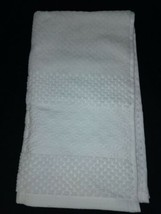 "Thresold Solid  Textured Cotton  Hand Towel  White 16""x28""   NEW ! image 1"