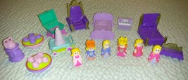 CASTLE PRINCESS KING QUEEN FURNITURE DOLL HOUSE 16pc PRETEND PLAY MIXED LOT - $10.00