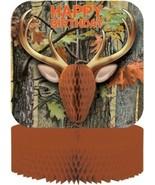 Hunting Camo Centerpiece Deer Head Honeycomb Birthday Party - $5.50