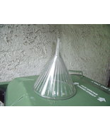 Ribbed Glass Funnel Nearly 8 Inches High-Vintage - $55.00