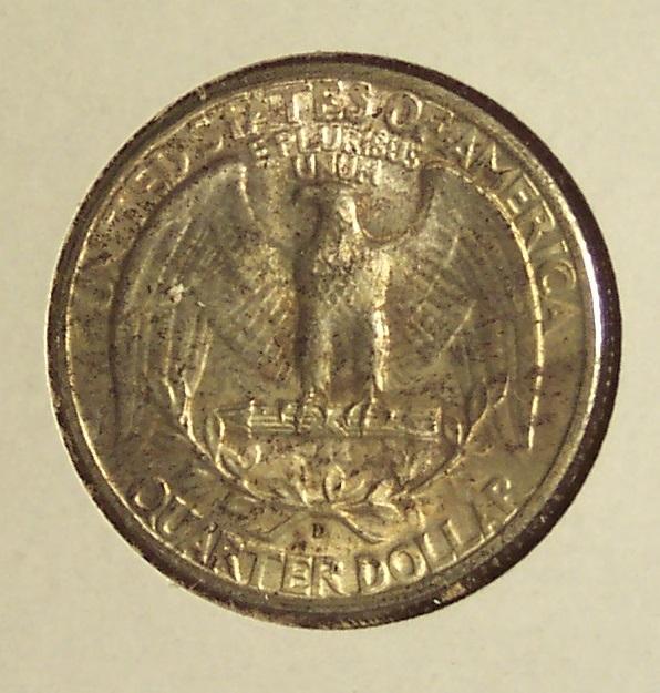 1944-D Silver Washington Quarter UNC #011 image 4