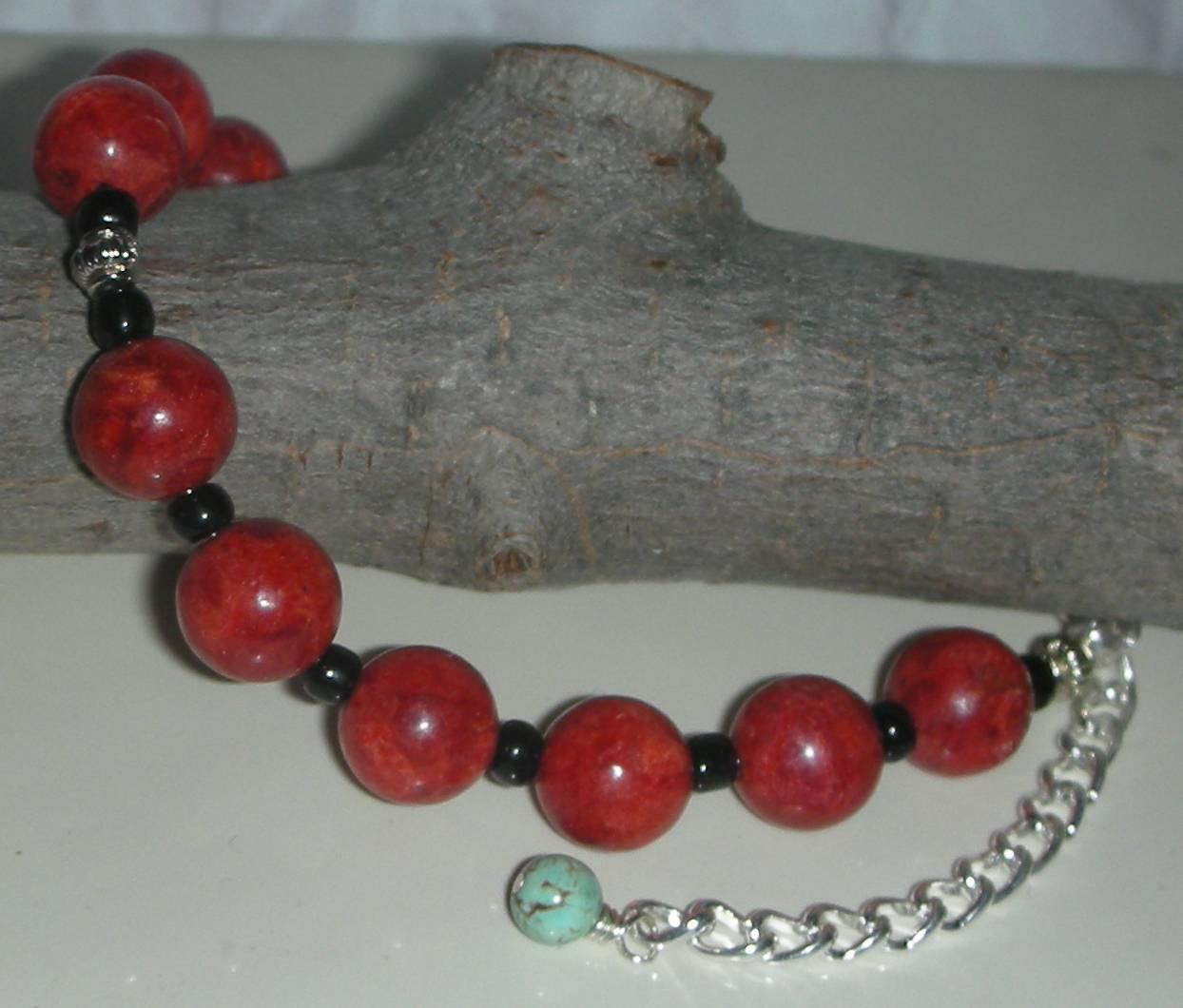 Coral red bracelet