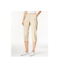 Lee Platinum NEW Womens Tan Capri Pants Flexible Comfort Waist Size 4 Retail $56 - $13.85