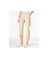Lee Platinum NEW Womens Tan Capri Pants Flexible Comfort Waist Size 4 Re... - $13.85
