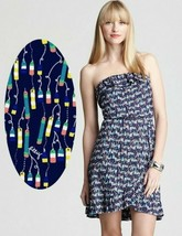 Lilly Pulitzer Flor Bright Navy Oh Buoy Strapless Ruffle Jersey Stretch ... - $99.00