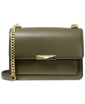 NWT MICHAEL MICHAEL KORS JADE LEATHER SHOULDER BAG OLIVE - $141.74