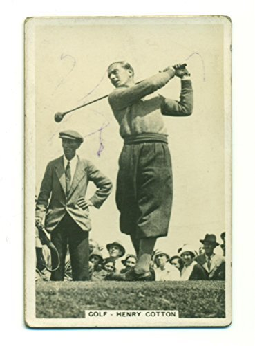 "1935 Pattreiouex Henry Cotton #20 Vintage Golf Card ""Sporting Events and Stars"""