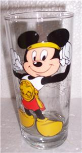 Walt Disney Productions Mickey Mouse Collectible Large Paraglazed Glass Tumbler