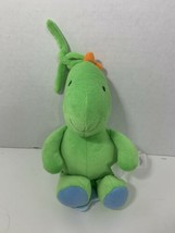 Carter's Child of Mine musical green dinosaur plush hanging baby crib pu... - $9.89