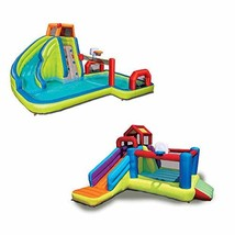 2-in-1 Ultimate Combo Pack Aqua Sports Water Park & Climb 'N Bounce Club... - $703.80
